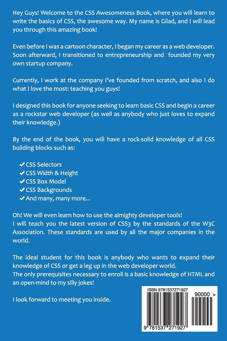 Learn To Write CSS The Awesome Way! CSS Awesomeness Book Css