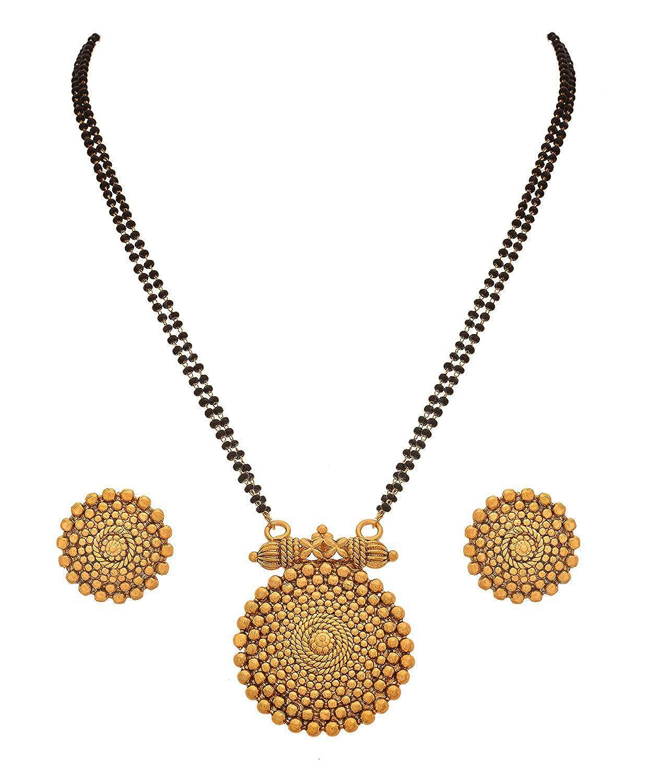 Bfc Marathi Designer Copper Gold Plated Mangalsutra For Women