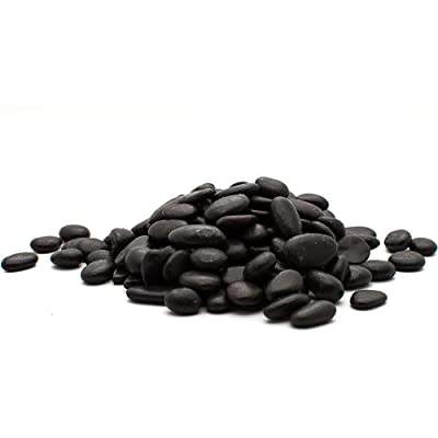 "Margo Garden Products 1"" 20lbs Rainforest Black Grade A Polished Pebbles, Small : Garden & Outdoor"