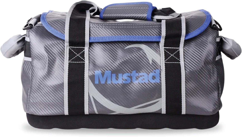 Mustad Dry Bag , Waterproof 500-Denier Tarpaulin, with Padded Shoulder Straps, Grey/Blue