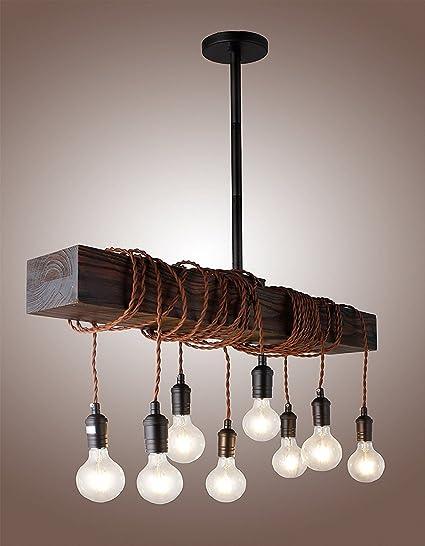 2170508d571 32 quot  Vintage Rustic Wood Beam Pendant Light Antique Decor Chandelier -  Perfect for Kitchen