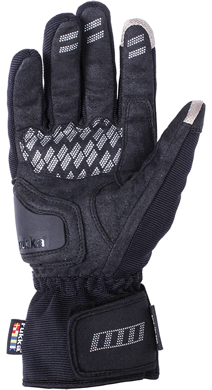 RUKKA VIRIUM TOUCH SCREEN TECH GTX GORETEX WATERPROOF MOTORCYCLE GLOVES BLACK M