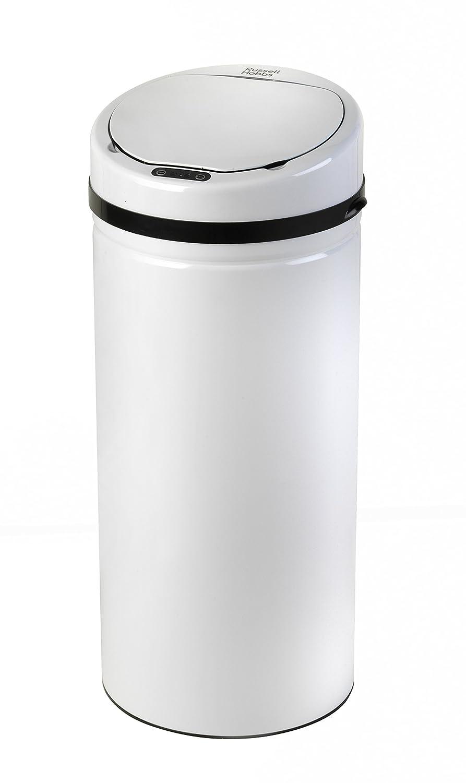White Kitchen Bin Part - 47: Russell Hobbs BW04512W Round Hands Free Motion Sensor Dustbin/Kitchen Bin,  30 Litre, White: Amazon.co.uk: Kitchen U0026 Home