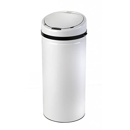 Russell Hobbs BW04512W Round Hands Free Motion Sensor Dustbin/Kitchen Bin, 30 Litre, White