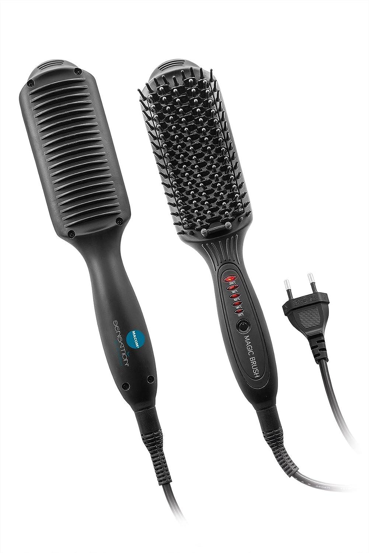 Macom 228 Straightening brush Negro 50W 2.5m Utensilio de peinado - Moldeador de pelo (Cepillo alisador, 200 °C, 30, 0.3, Negro, De plástico, ...