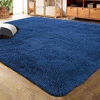 MUKJH Larga Peluche Super Suave Alfombra,Dormitorio de alfombras, Sala de Estar, Habitación para niños, Alfombra…