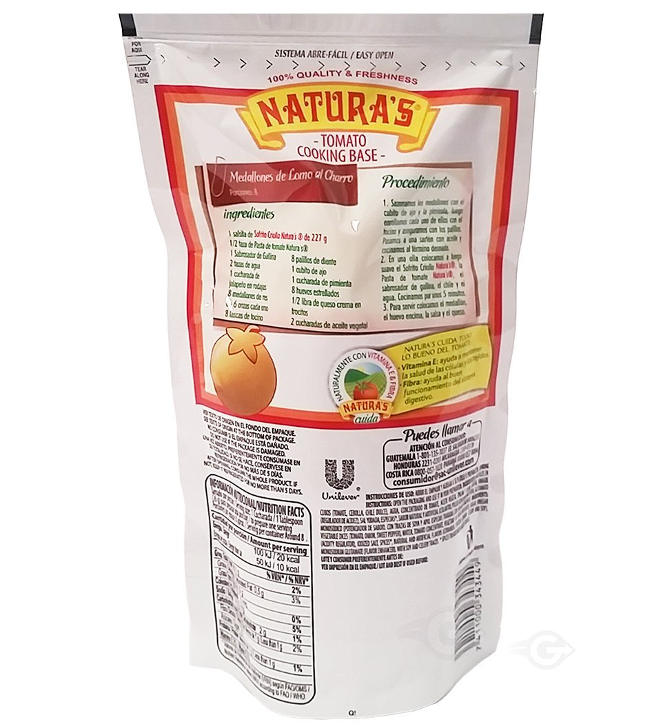 Amazon.com : Naturas Sofrito Sauce 8.0 oz - Salsa (Pack of 1) : Grocery & Gourmet Food