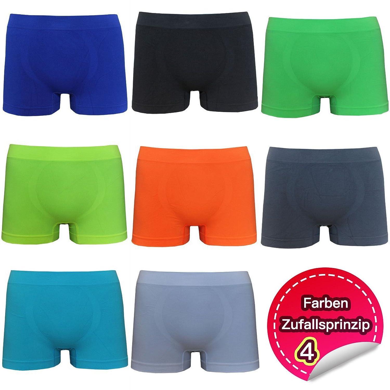 2-4-5-6-9-12er Pack Boxershorts Nahtlos Herren Retropants Unterhose Unterwäsche aus Polyamid Einfarbig für Männer S M L XL XXL XXXL
