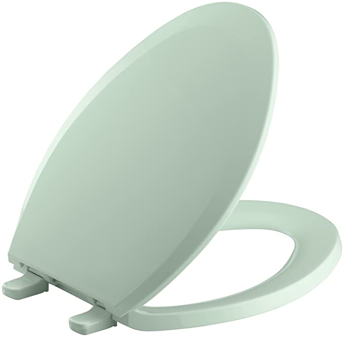 Kohler K-4652 Lustra Q2 Elongated Closed-Front Toilet Seat with ...