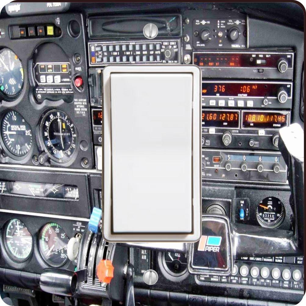 Rikki Knight Flight Airplane Cockpit-Single Toggle Light Switch Plate