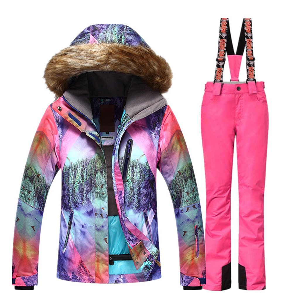 GS SNOWING Snowboard Suit for Women Waterproof Windproof Skiing Jacket and Pants