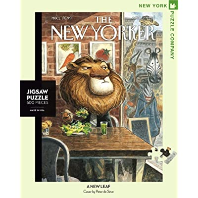 New York Puzzle Company - New Yorker A New Leaf - 500 Piece Jigsaw Puzzle: Toys & Games