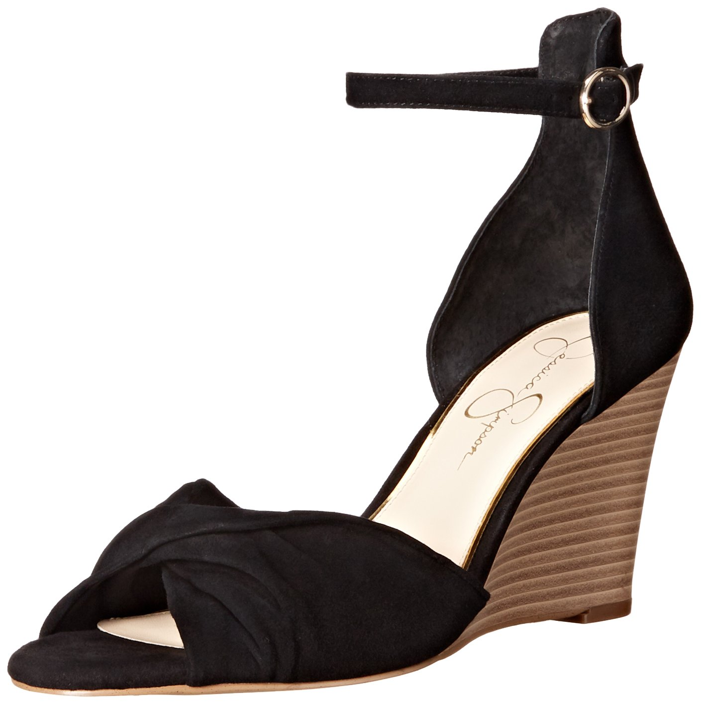Jessica Simpson Women's LINDELLA Wedge Sandal B01CE5IURI 8.5 B(M) US|Black