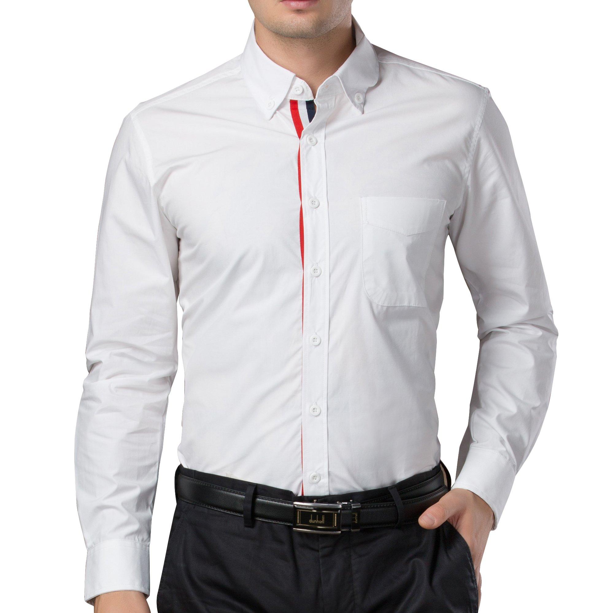 Paul Jones Mens Casual Lapel Neck Dress Shirts Size S, White 48-1
