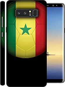 ColorKing Football Senegal 02 Black shell case cover for Samsung Note 8