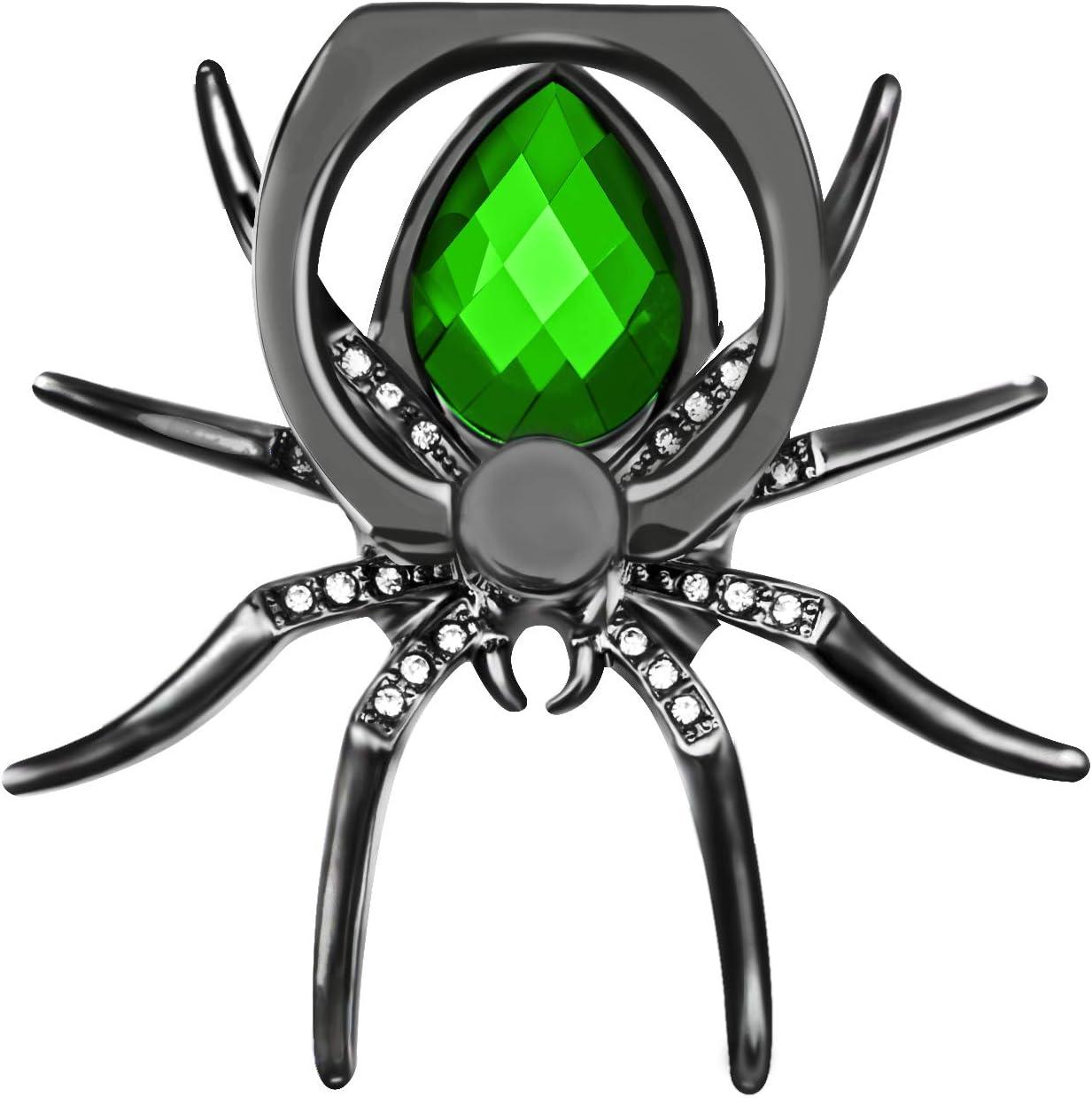 IYOYI Frio Araña Anillo Soporte Movil Rotación 360 Grados Diamantes Sujeta Movil Mano per Todos los teléfonos celulares (Verde)