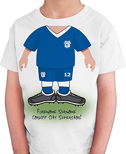 Cardiff city Football Tshirt And Shorts 8-9 Years