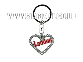 Amazon.com: Londres diamante amor llavero en forma de ...
