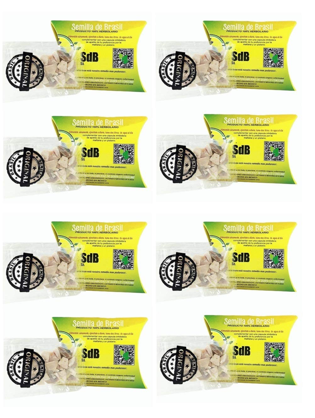 8 Pack Semilla de Brasil Seed 100% Original Authentic Natural 240 Day Supply