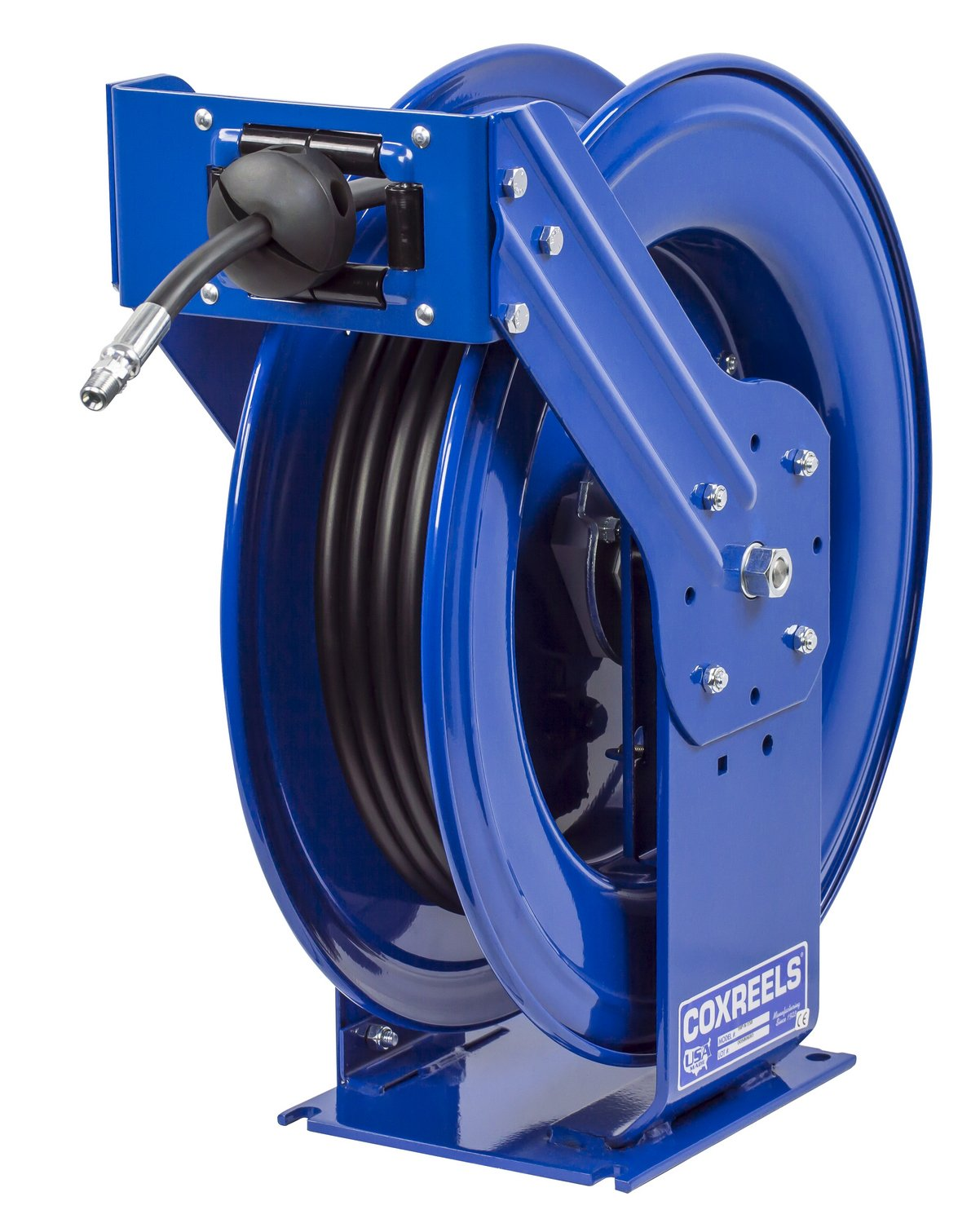 Coxreels THP-N-150 Supreme Duty Spring Rewind Hose Reel for grease/hydraulic oil: 1/4'' I.D., 50' hose, 5000 PSI