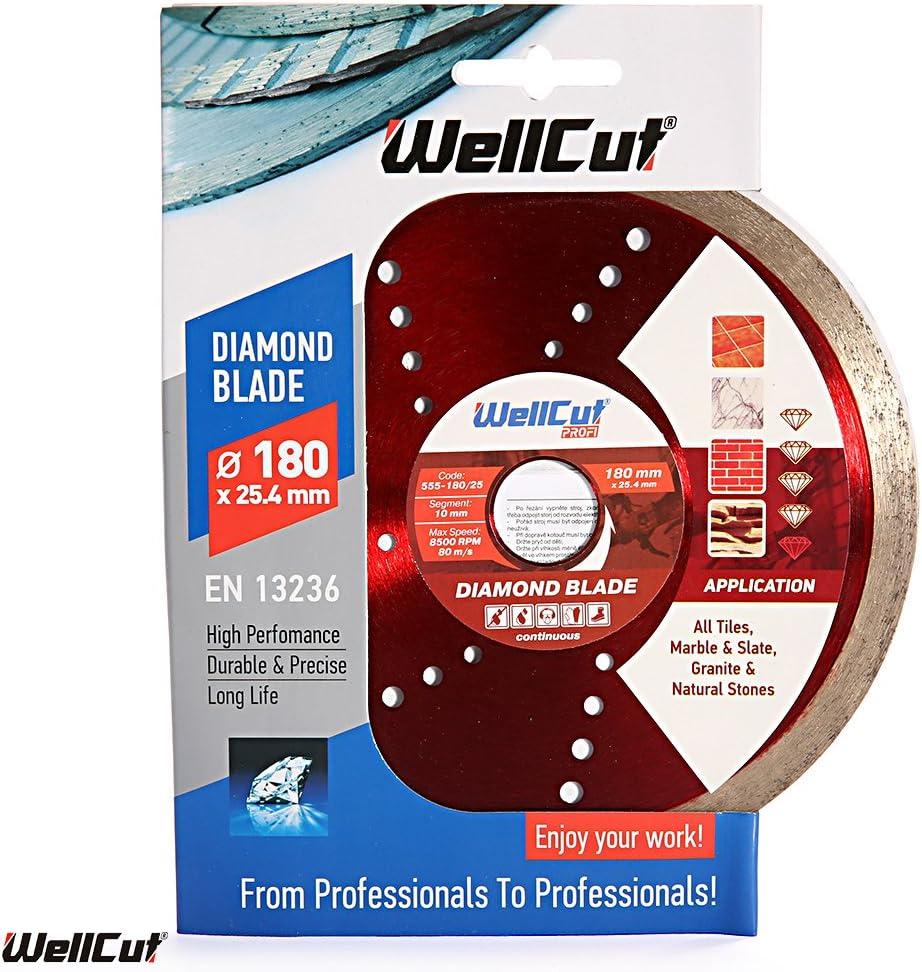 WellCut 555-180//25 Profi Continuous Bore Diamond Blade  180 x 25 mm