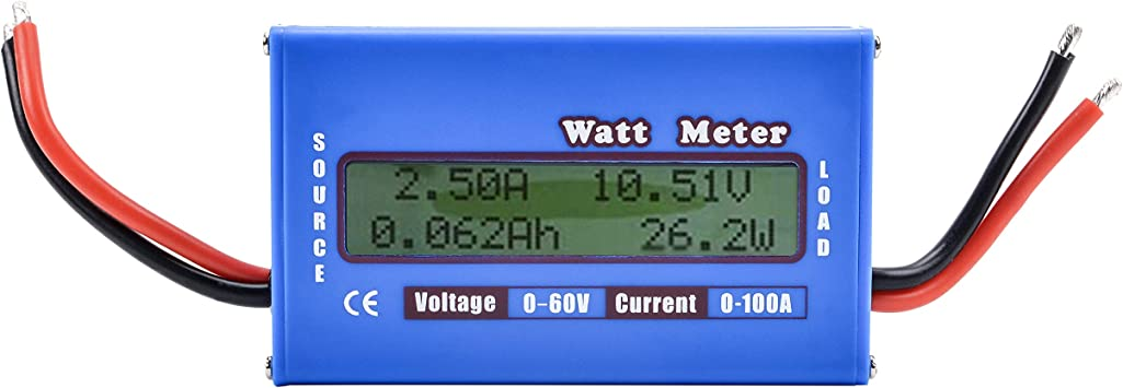 Amazon Com Rc Vatímetros Dc 60 V 100 A Analizador De Potencia Digital Lcd Balance De Voltaje De La Batería Checker W Volt Amp Metro Home Improvement