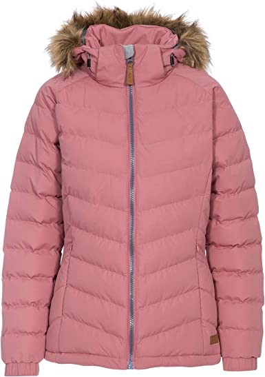 Trespass Jenna Ladies Womens Waterproof Quilted Padded Parka Style Jacket