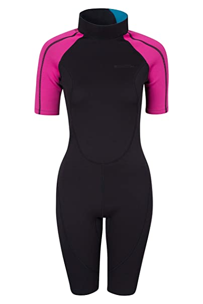 Mountain Warehouse Traje de Neopreno para Mujer Shorty - De baño, de Surf, con Cremallera Easy Glide, Tirador extendido, Costuras Planas - Ideal para ...