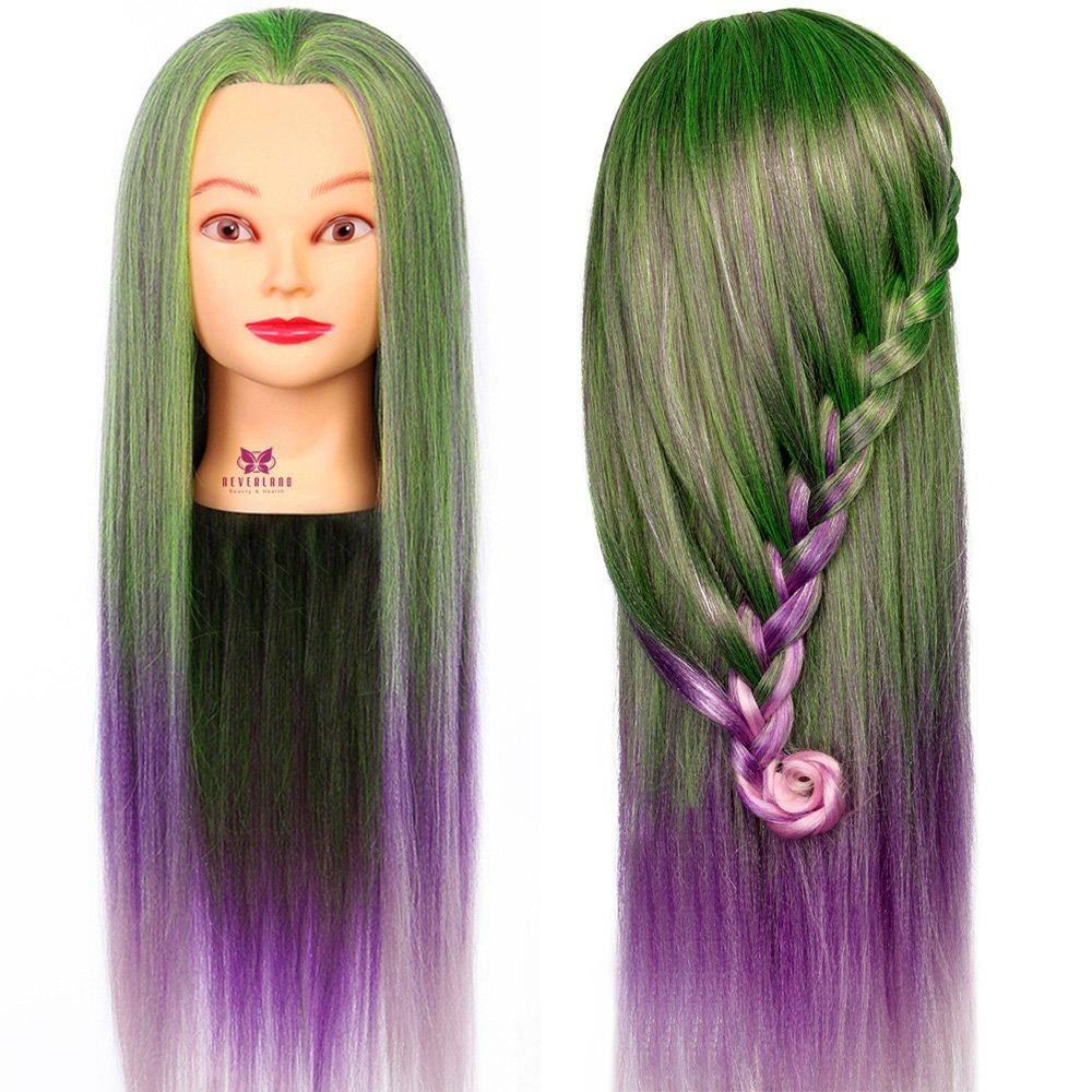 Neverland Têtes à Coiffer Arc en Ciel Synthetiques Cheveux avec Pince #11 NEVERLAND Beauty & Health