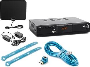 Viewtv AT-163 ATSC Digital TV Converter Box Bundle with ViewTV 50 Mile Flat HD
