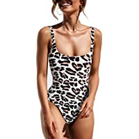 09f9c8081a479 CinShein Women's Bikini Hign Cut Leopard Print One Piece Monokini Swimsuits  Backless Thong Bathing Suits