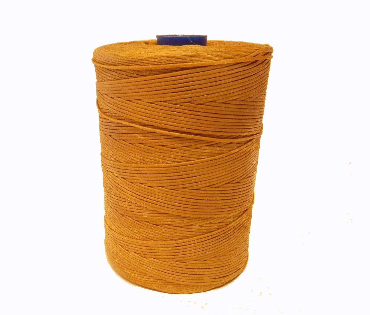 Perlin - 10m Wachsband 1mm Sattlergarn Braun Geflochtet 100% Polyester Forellenfäden Nähen Handwerk C299 x2
