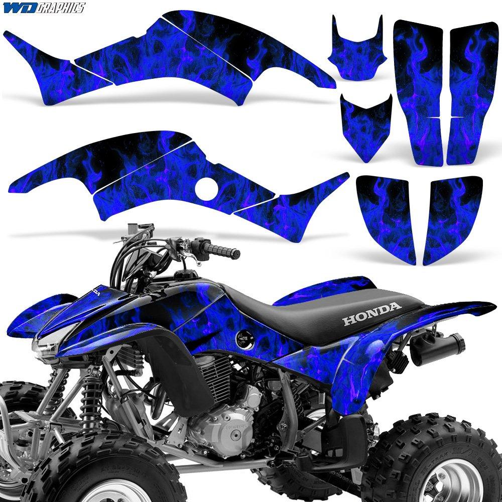 Honda TRX400EX 1999-2007 Graphic Kit ATV Quad Decal Sticker TRX 400 EX FLAMES BLUE Wholesale Decals