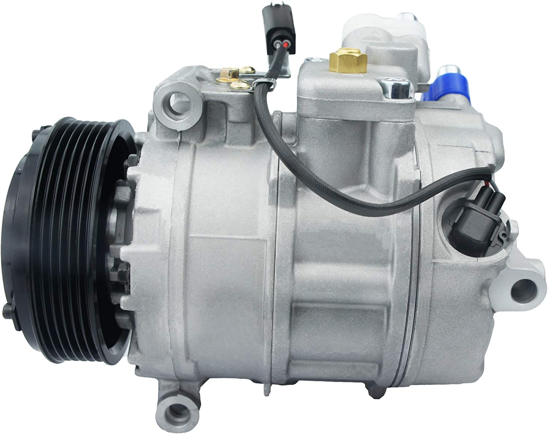VIOJI 1pc Air Conditioning AC A//C Compressor and Clutch Compatible with BMW 325i 325xi 328i 328xi 330i 330xi Alpina B7 M3 M5 M6 Z4 2.5L 3.0L 4.0L 4.4L 5.0L V10 V8 l6
