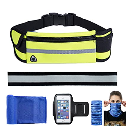 Sports & Entertainment 4-6inches Waist Bag For Running Waterproof Waist Double Pack Best Fitness Gear For Hands-free Workout Phone Holder Men Women