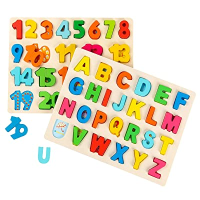 Wooden ABC Alphabet Educational Learning Children/'s Puzzle Jigsaw Toys Fish Gift
