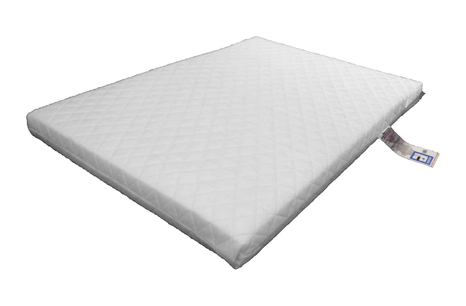 LAURA® Deluxe Hypo-Allergenic Eco Air Flow Quilted Dual Sided Travel Cot Mattress 95 x 65cm x 5cm Thick British Made
