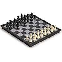 3 in 1 Travel Magnetic Chess, Checkers and Backgammon Set - 9.75''