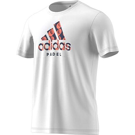 adidas Padel Logo tee Camiseta, Hombre: Amazon.es: Deportes y aire ...