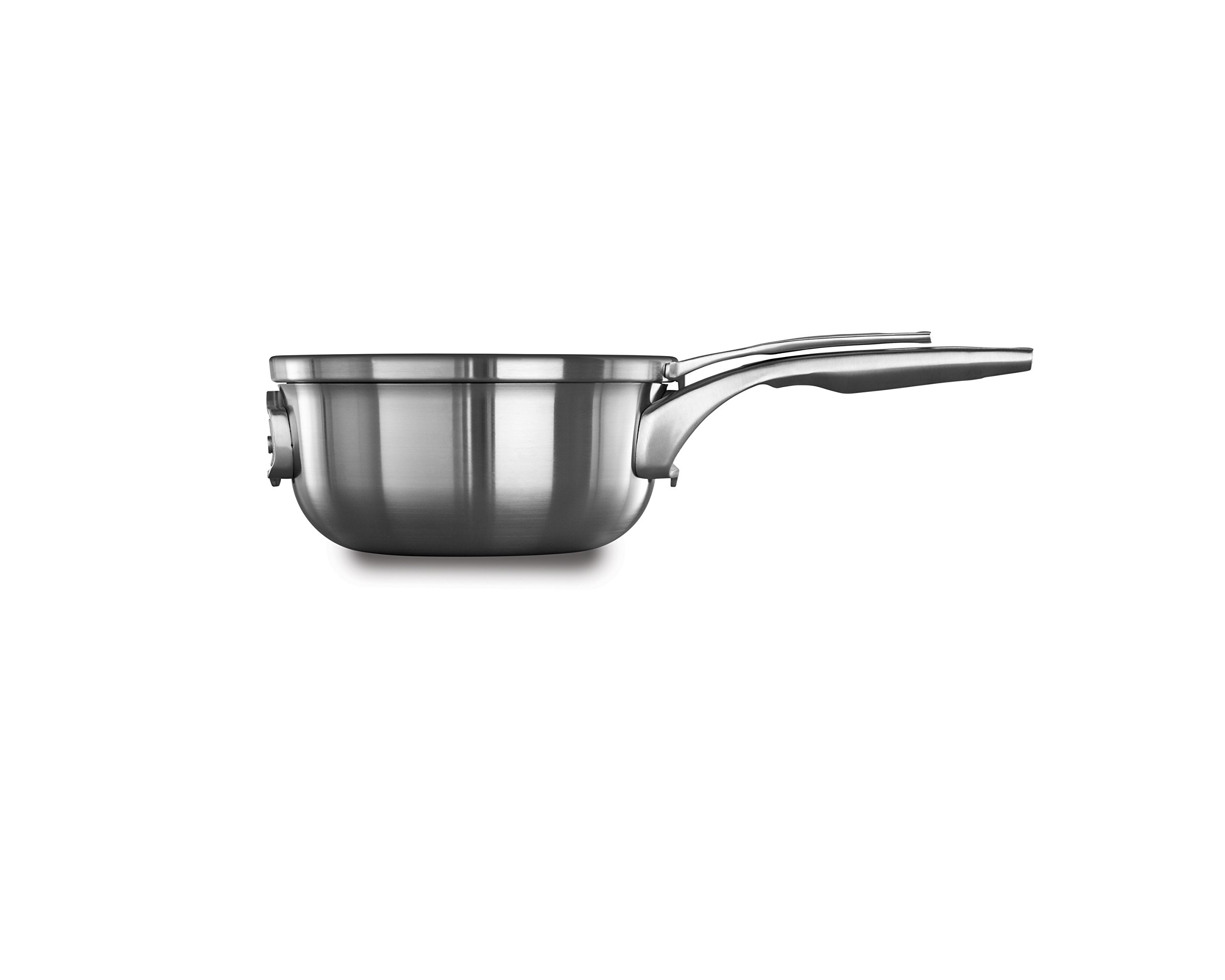 Calphalon Premier Space Saving Stainless Steel 2.5qt Chef's Pan with Cover