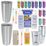 Epoxy Tumblers Kit with Glitter for Tumblers, Includes Amazing Clear Cast Epoxy for Tumblers, Silicone Epoxy Resin…