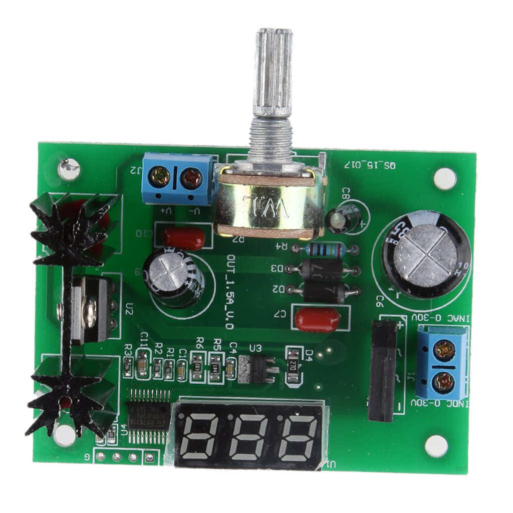 Lm317 Adjustable Voltage Regulator Step Down Power Supply Module Led Circuit With Variable Output Of 12 30v Display Modules Amazon Canada