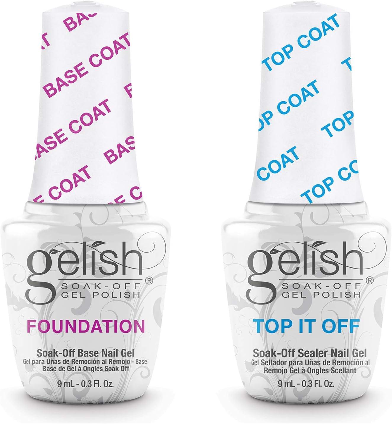 Gelish Top + Base Foundation Gel Soak off Gel Polish 15ml 0.5oz each: Amazon.es: Electrónica