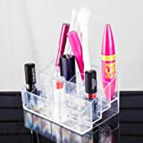 Transparent Cosmetic Makeup Organizer for Lipstick, Brushes, Bottles, and more. Clear Case Display Rack Holder
