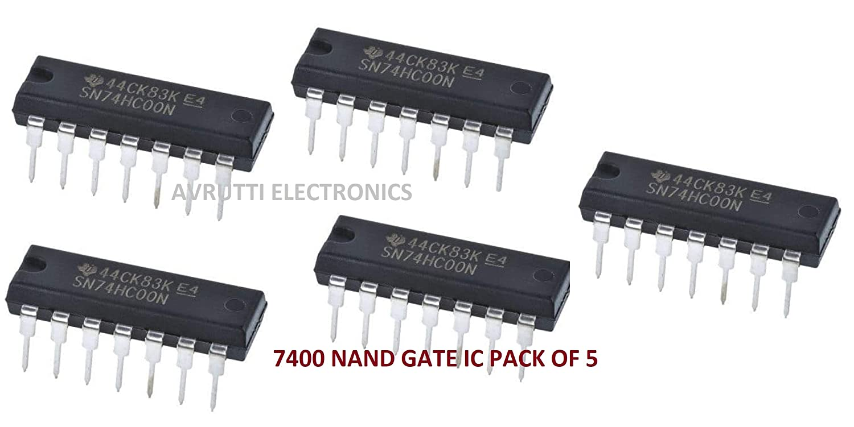 avrutti 7400 ic quad 2 input nand gate amazonin industrial