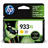 HP 933XL | Ink Cartridge | Yellow | Works with HP OfficeJet 6100, 6600, 6700, 7110, 7510, 7600 Series | CN056AN