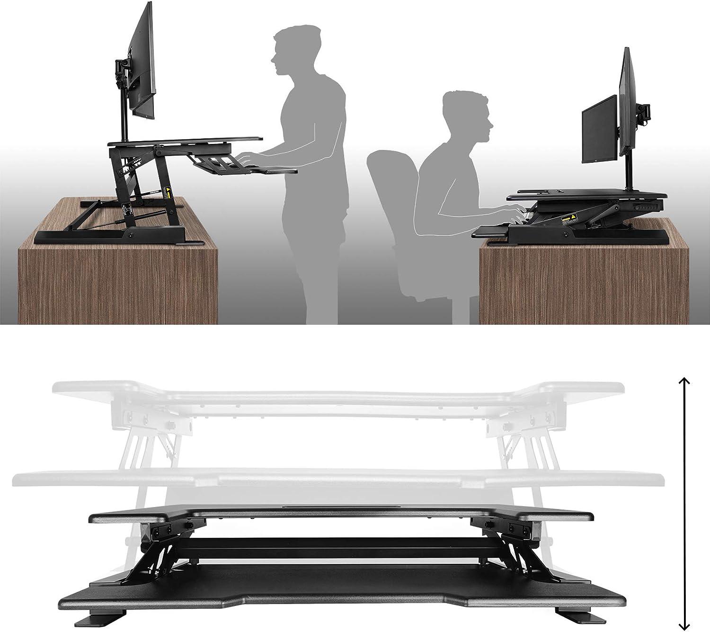 Compatible avec Support de Bureau Hauteur Ajustable de 14,5 /à 50 cm pour Travailler Assis et Debout Duronic DM05D3 Poste//Station de Travail Assis-Debout de 73 cm pour /écran//Clavier//Souris