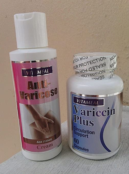 Variccin Plus & Anti Varicose Cream Circulation Support Varices by All Nue