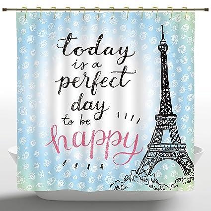 Artistic Shower Curtain By IPrintEiffel Tower DecorPerfect Day Eiffel Polka Dot