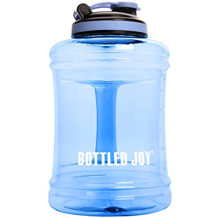 RINBOTTLE Large Water Bottle,Big Capacity Sports Water Bottle for Bodybuilding GMY Fitness,Plastic Water Jugs Sports Water Container with Handle,2500ML 85oz Drinking Bottles
